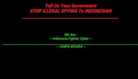Situs Web Australia di Serang Peretas Indonesia