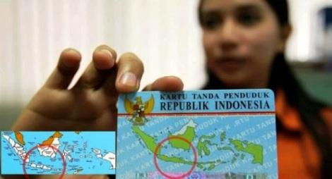 Peta Indonesia di e-KTP Salah