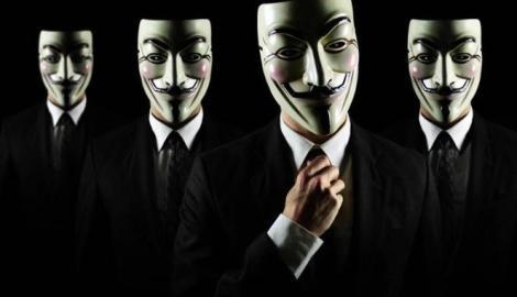 Topeng khas grup peretas Anonymous